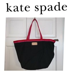 Kate Spade ♠️ Black Canvas Tote.